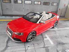Audi rs5 RS 5 a5 cabriolet rojo red v8 4.2 2015 GT Spirit resin nuevo New 1:18
