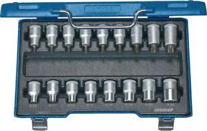 Steckschlüsselsatz ITX 19 TX-017 17-teilig 1/2 Zoll T 20 -T60/E10 - E24 GEDORE