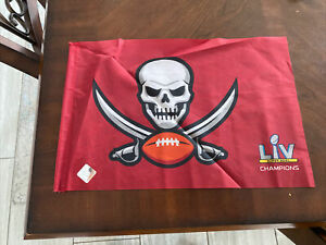"""Tampa Bay Buccaneers Red Flag Banner Super Bowl Champions SGA 18"""" x 11"""""""