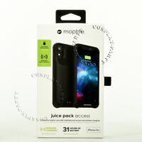 Mophie Juice Pack Access iPhone XR Battery Case Black Wireless Charger 2,000mAh