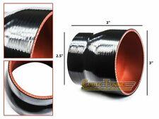 "3"" To 2.5"" Silicone Intake/Intercooler Pipe Coupler BLACK For Saturn/Subaru"