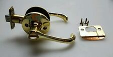 Kwikset Lever Handle Locking Lockset Brass Bath and Bedroom Knob Adjustable