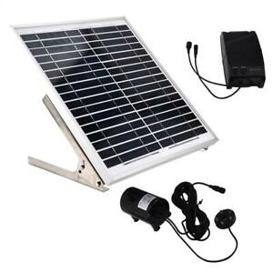 15W Double Pump Remote Control Pond Pool Solar Submersible Low Noise Water Pumps