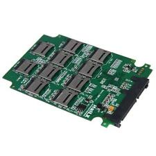 "10x Micro SD TF Memory Card to SATA SSD Adapter + RAID Quad 2.5"" SATA Converter"