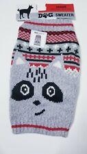 Red Grey Raccoon Cross Sweater (Pet/Dog) Small