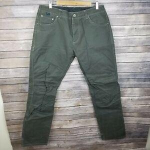 KUHL Free Rydr Pants Mens 36x34 Vintage Patina Dye Dark Brown
