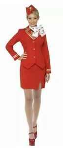Brand New Ladies Air Hostess Flight Attendant Cabin Crew Fancy Dress Uniform