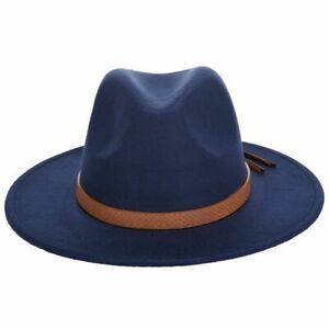 Fedora Hat Classical Wide Brim Gangster Cap Men Women Vintage Trilby Panama Hats