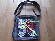 Fun Sneakers Shoulder Bag With Eyelets And Laces - BRAND NEW - 6 Compartments