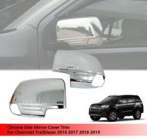 Chrome Side Mirror Cover Trim Fit For Chevrolet / Holden Colorado 7 2016 - 2019