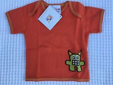 Sckoon Orange Top Tee Size 0-6 mths, 0, 1 100% Organic Cotton Xmas Gift Boy Girl