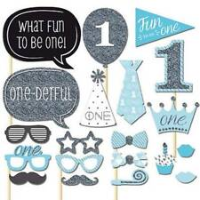 20pcs 1st Birthday Photo Booth Props Boy Girl First Party Decorations Supplies