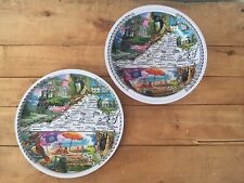 Vintage Virginia State Plate & Bowl, Metal State Souvenir Collectible Travel