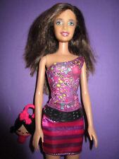 B374-morena barbie mattel 2003 original fetichistas + bolsa geniales + zapatos altos