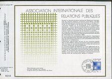 DOCUMENT CEF PREMIER JOUR  1980  TIMBRE   N° 2091 RELATIONS PUBLIQUES