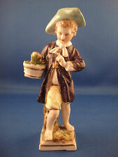 Rare Antique KPM Royal Berlin Boy With Flower Pot Figurine 18th Century Germany
