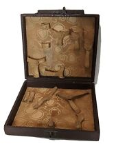 Vintage Leather Travel Vanity Case 1930's