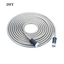 Stainless Steel garden hose Water Pipe 25/50/75/100FT Flexible Lightweight New