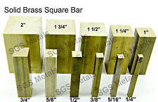 CZ121 Solid Brass SQUARE Bar - 11 Diameters & 6 Lengths available - Milling