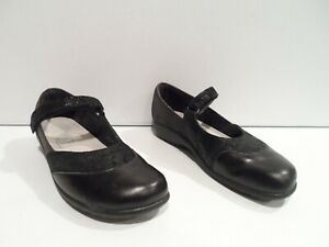 NAOT Women's Mary Jane Shoes Size 9 EU 40 Black Adjustable Strap Made in Israel