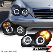 [WORLD BRIGHTEST] 2001-2007 Mercedes Benz W203 C-Class Halo Angel Eye Headlights