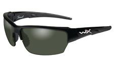 Wiley-X CHSAI04 Polarized Sunglasses Saint - Gloss Black/Smoke Green