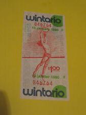 WINTARIO LOTTERY TICKET JANUARY 10 1980 VOLLEYBALL ART CANADA
