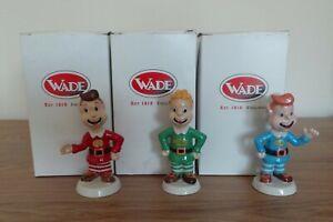 BOXED FULL SET OF 3 x WADE KELLOGG'S RICE KRISPIES SNAP, CRACKLE & POP FIGURES