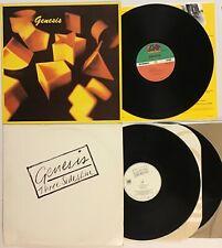 GENESIS 3 Vinyl LP's 1983 Self Titled S/T 80116 & 1982 Three Sides Live SD2-2000