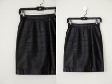 Gorgeous Vintage Black Leather Fitted Pencil Skirt XS/S 0 2