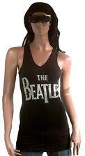 AMPLIFIED THE BEATLES Logo Rock Star Designer Viskose WoW Tank Top Shirt g.XS 34