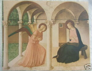 """Catholic Print Picture ANNUNCIATION Fra Angelico Mary 11x14"""" ready for framing"""