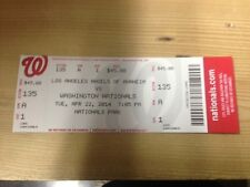 ALBERT PUJOLS HR 500 Ticket Stub  4/22/2014 LA ANGELS VS NATIONALS MINT #500
