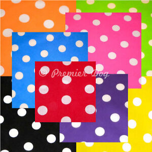 16 x Mixed Colours Polka Dot Dog Bandanas / Scarf - 3 Sizes To Choose From!