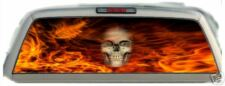Skull Flaming Orange #02 Rear Window Graphic Tint Truck Stickers Decals