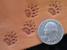 011-01 Bear Grizzly track paw Leather Saddlery Tool Punch 3D Brass Custom stamp