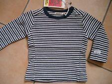 (17) Imps & Elfs UNISEX BABY maglietta a strisce + Bottoni & logo ricamate gr.80