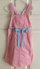 RALPH LAUREN Girls Crushed Corduroy Pink Cotton Jumper Dress  ~ Size 4/4T
