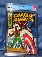 CAPTAIN AMERICA #117 1st FALCON CGC 6.5 KEY ISSUE MARVEL COMICS 1969 NO RESERVE