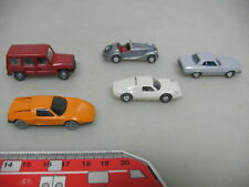 aa808-0,5 #5x Wiking H0 Car / Models: MERCEDES-BENZ MB,Porsche Carrera,BMW 328