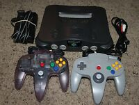 Nintendo 64 N64 Console System Bundle 2 Controllers Lot Retro Vintage Super Fun!