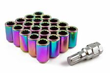 TUNER WHEEL NUTS STEEL NEO CHROME M12 x 1.5 fits FORD ESCORT FIESTA FOCUS ST RS