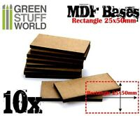 20x HEXAGONALE MDF Basen 25mm Holz Modellbau Rollenspiele Tabletop Infanterie