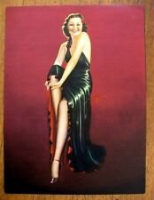 1940s Pin Up Girl Picture by Billy DeVorss Sexy Brunette w/ Black Dress 12 x 16
