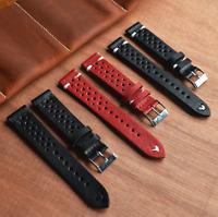 Genuine Leather Watch Strap Band For Tissot Citizen Timex Oris Casio Seiko Boss