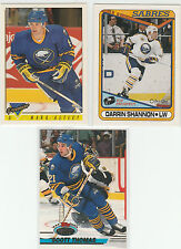 1981 TO 2014...BUFFALO SABRES...LOT OF 114 CARDS...INCLUDES 7 RC'S...NO DOUBLES