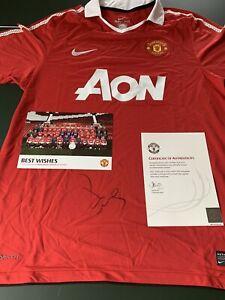 Paul Scholes 2010/11 Manchester United Signed Shirt Man Utd England Legend COA