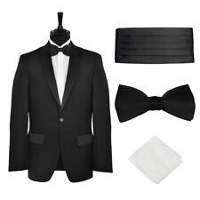 Completi e abiti sartoriali da uomo neri regolare in lana