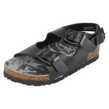 Sandales noires en synthétique pour garçon de 2 à 16 ans