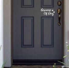 Beware of Dog funny cute Door vinyl decal sticker home decor decoration house